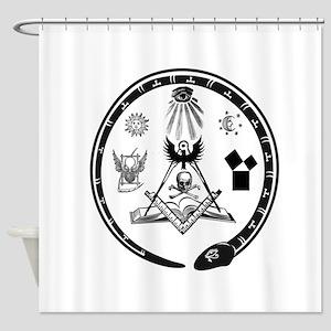Masonic Logo Shower Curtain