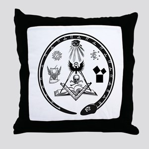 Masonic Logo Throw Pillow