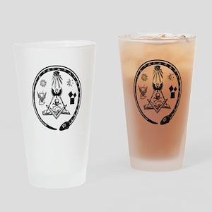 Masonic Logo Drinking Glass