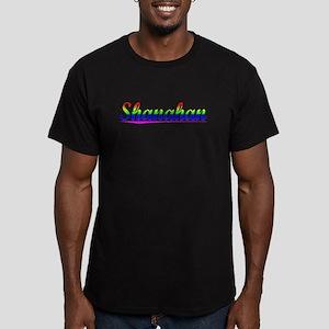 Shanahan, Rainbow, Men's Fitted T-Shirt (dark)