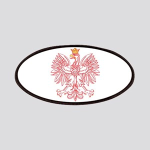 Polish Eagle Outlined In Red Patches