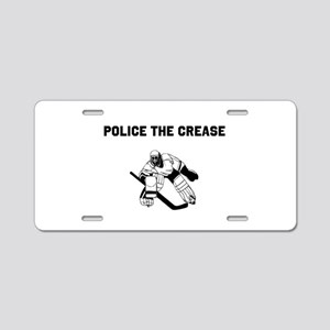 Police the Crease Aluminum License Plate