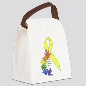 Support Childhood Cancer Canvas Lunch Bag