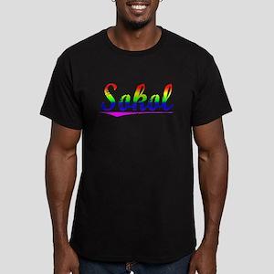 Sokol, Rainbow, Men's Fitted T-Shirt (dark)