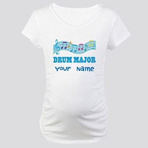 Personalized Drum Major Maternity T-Shirt
