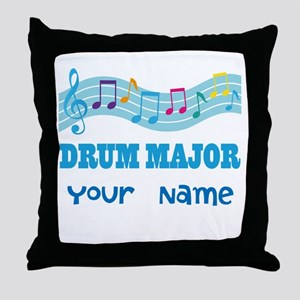 Personalized Drum Major Throw Pillow