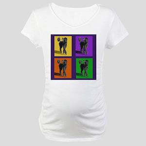 Poodle Pop Art Maternity T-Shirt