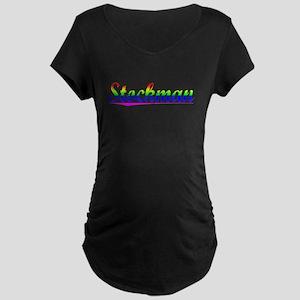 Stockman, Rainbow, Maternity Dark T-Shirt