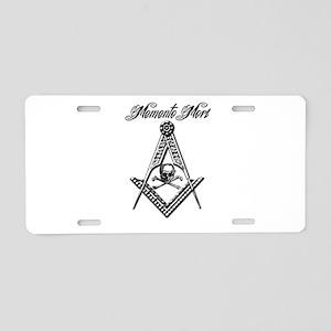Memento Mori SC Aluminum License Plate