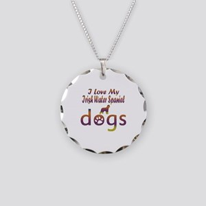 Irish Water Spaniel designs Necklace Circle Charm