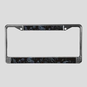 Masonic Fantasy Blue License Plate Frame
