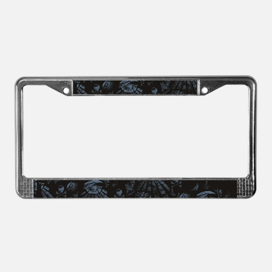 Masonic Fantasy Blue License Plate Frame