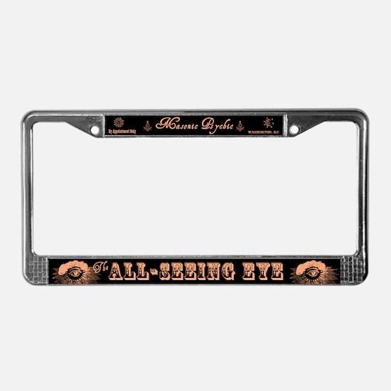 All Seeing Eye Masonic Psychic License Plate Frame