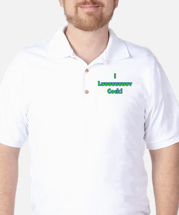 Luv Cock Golf Shirt