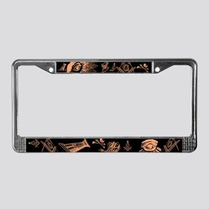 Masonic Fantasy License Plate Frame