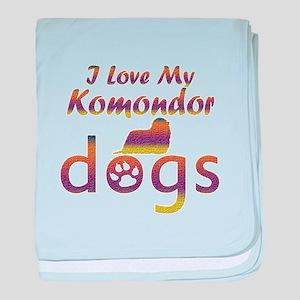 Komondor designs baby blanket