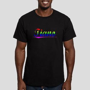 Tiano, Rainbow, Men's Fitted T-Shirt (dark)
