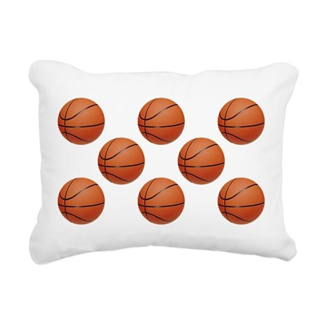 Basketball Rectangular Canvas Pillow