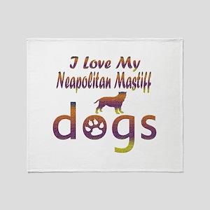 Neapolitan Mastiff designs Throw Blanket