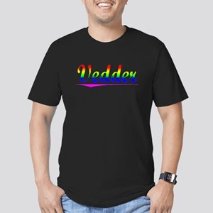 Vedder, Rainbow, Men's Fitted T-Shirt (dark)