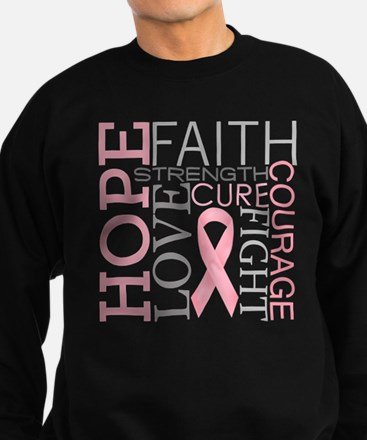 Cute Breast cancer Sweatshirt (dark)