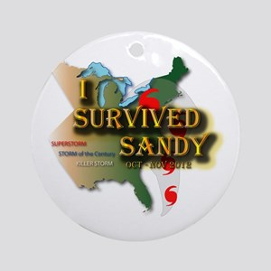 I Survived Sandy Ornament (Round)
