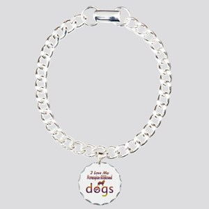 Norwegian Elkhound designs Charm Bracelet, One Cha