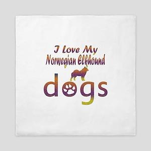 Norwegian Elkhound designs Queen Duvet