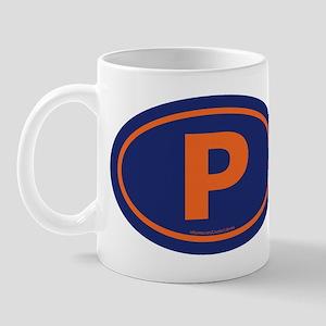 """""""P"""" Euros Mug"""