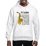 Alto Saxophone Hooded Sweatshirt