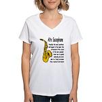 Alto Saxophone Women's V-Neck T-Shirt