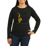 Alto Saxophone Women's Long Sleeve Dark T-Shirt