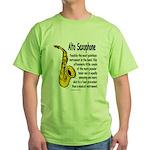 Alto Saxophone Green T-Shirt