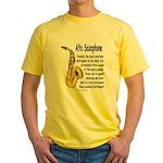 Alto Saxophone Yellow T-Shirt