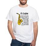 Alto Saxophone White T-Shirt