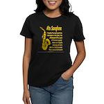 Alto Saxophone Women's Dark T-Shirt