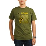 Alto Saxophone Organic Men's T-Shirt (dark)
