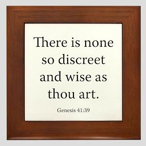 Genesis 41:39 Framed Tile