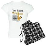 Tenor Saxobone Women's Light Pajamas