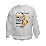 Tenor Saxobone Kids Sweatshirt