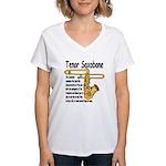 Tenor Saxobone Women's V-Neck T-Shirt
