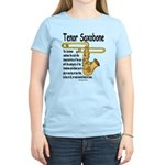 Tenor Saxobone Women's Light T-Shirt