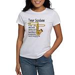 Tenor Saxobone Women's T-Shirt
