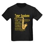 Tenor Saxobone Kids Dark T-Shirt