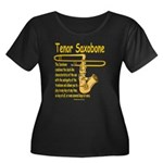 Tenor Saxobone Women's Plus Size Scoop Neck Dark T