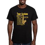Tenor Saxobone Men's Fitted T-Shirt (dark)