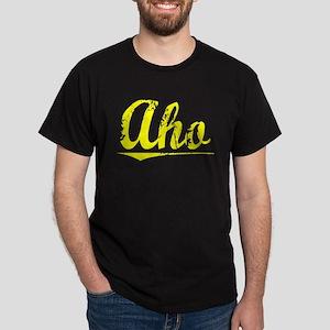 Aho, Yellow Dark T-Shirt