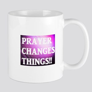 Prayer Changes Things Purple Mug