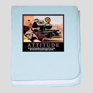 Sniper Attitude baby blanket