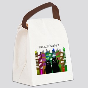 medical assistant tote cats 2 Canvas Lunch Bag